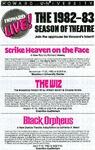 Howard University Theatre Season Flyer, 1982-83