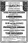 Howard University Drama Department flyer for the 1975-76 season by Channing Pollock Collection
