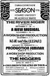 Howard University Drama Department flyer for the 1975-76 season