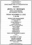 Flyer - Howard University dance concert and a dance class