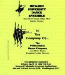 Flyer - Howard University Dance Ensemble by Channing Pollock Collection