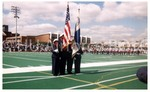 Ceremonial Guard Present Colors at Howard VS Hampton Game