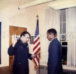 Unidentified Cadet Takes Oath