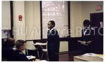 Cadet Stands at Attention in Class