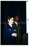Female Cadet Speaks During Program