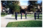 Cadets Presenting Flags on Campus
