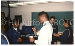[Cadet Speaks with Speaker at HU AFROTC Career Day]