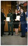 [HU President H. Patrick Swygert Presents Certificate at AFROTC Program]