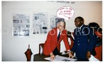 """Why is He In Every Picture?"" [Craig Allen with a Tuskegee Airman]"