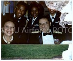 [General Colin Powell with Wife and Cadets at AFROTC Event]