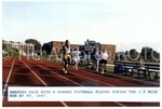Keeping Pace With A Howard Football Player During the 1.5 Mile Run at PT, 1987