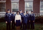 [Cadets Pose With Woman]