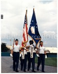 Members of the AGT Drill Team Presenting The Colors…