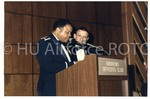 Col. Wade and Guest Speaker at the 1986 Military Ball
