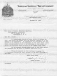 Cousins, Sidney [Letter From National Savings and Trust Company] [2]