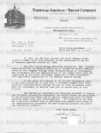 Cousins, Sidney [Letter From National Savings and Trust Company] [3]