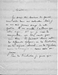 Unsigned/Partial Name - Letter From A. Seignoly