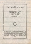 Decennial Catalogue of Frelinghuysen University