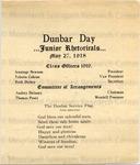 Dunbar Day Junior Rhetorical
