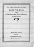 Dunbar High School's A Midsummer Night's Dream Program