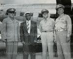 Col. James J. Carnes, Prof. Frank Coleman, Lt. Colonel Harold Maull and Colonel Joseph T. Morris