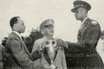 Mr. Stanton presents the Ely cup to Cadet Capt. Alfred H. Johnson