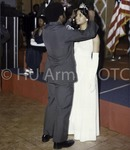 "C/Col D. Marshall, CDR, Army ROTC Corps of Cadets ""crowns"" Miss Army ROTC Queen, School Year 1975-76, Ms. Donna Mitchell at the Army ROTC Formal Military Ball."