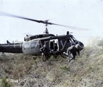 [Cadets exit helicopter]