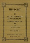 History of the Bethel Literary and Historical Association, by John W. Cromwell, Founder's Day, 1896 by MSRC Staff