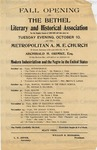 Resolutions of the Bethel Literary and Historical Association, n.d.