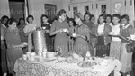 At Howard University Home Economics department with Flemmie Kittrell. December 1958.
