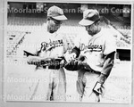 Robinson, Sugar Ray & Lavagetto, Cookie in Dodgers uniform