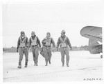 Pilots of the 332nd Fighter Group stations at the Army Air Field , Oscoda, Mich.