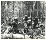 [African American soldiers in t he field with anti-aircraft weapon]