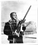 An Aerial Gunner, Sgt. Manuel Rego of Portuguese Parents Now Stationed at the Army Air Base, Salt Lake City, Utah