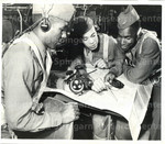 Aviation Student Wendell R. Smith, Des Moines, Ia.; Aviation Student Joe W. Connelly of Bluefield, W. Va.; and Aviation Cadet Aldonse C. Teler, also of Bluefield.