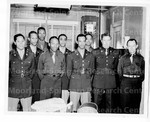 [air corps cadets pose for photograph]