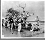 Members of an artillery unit stand by