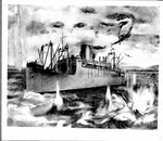 [drawing of the battle of Guadalcanal]