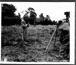 Surveying a disposal point at a new air field
