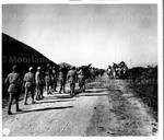 Chinese Infantry marching along Burma Road