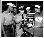 [another shot] First class to attend New Negro Service School for machinist's mates in Camp Robert Smalls; 30 July 1943