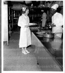 Miss Revere inspects most in the special diet kitchen. U.S. Naval Hospital Washington, D.C.