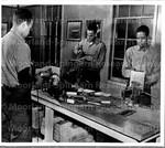 Three Negro Bluejackets in Service School for Aviation Metalsmiths.