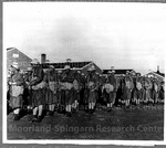 Colored gas mask drill at Fort Davis