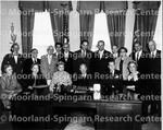 Eisenhower, President Dwight D. seated center Dr. Dorothy B. Ferebee