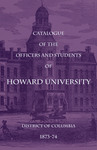 1873-74: Catalog of the Officers and Students of Howard University