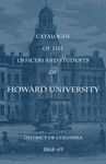 1868-69: Catalog of the Officers and Students of Howard University