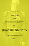 1882-83 Catalog of the Officers and Students of Howard University