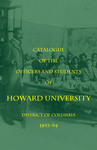 1893-94: Catalog of the Officers and Students of Howard University